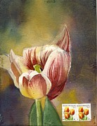 Alfred Ng - tulip painting with stamp