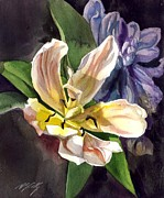 Daily Painter Prints - Tulip With Hyacinthus Print by Alfred Ng