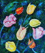 Ion vincent DAnu - Tulips a bit in Van Gogh...