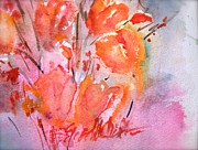 Loose Paintings - Tulips Ablaze by Elizabeth Hogue