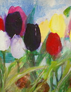 Claudia Smaletz Metal Prints - Tulips After Rain III Metal Print by Claudia Smaletz