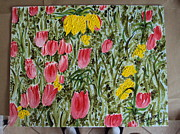 Featured Mixed Media - Tulips by Al Pascucci