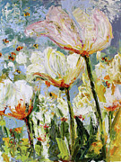 Ginette Callaway - Tulips and Bees in the Window