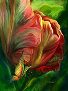 Parrot Art Print Mixed Media - Tulips - Colors Of Paradise by Carol Cavalaris