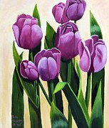 Ruth Housley Metal Prints - Tulips in Bloom Metal Print by Ruth  Housley