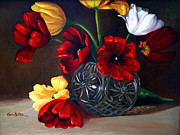 Karen Mattson - Tulips In Crystal