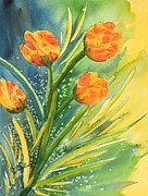 Loose Paintings - Tulips in Motion by Judy Melcher