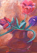 Bettye  Harwell - Tulips in Pitcher