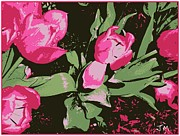 Judy Minderman Metal Prints - Tulips In The Greenhouse Metal Print by Judy Minderman