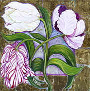 Shade Paintings - Tulips by Laila Shawa