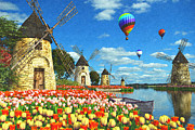 Tulips Of Amsterdam Print by Dominic Davison