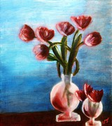 MendyZ - Tulips Still life in Red...