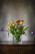 Fresh Green Digital Art Posters - Tulips Poster by Svetlana Sewell