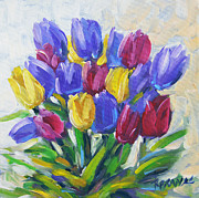 Deep Painting Originals - Tulips Time Love the Spring by Prankearts by Richard T Pranke