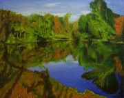 Paintings Available As Prints - Tulpehocken Creek by Phillip Compton