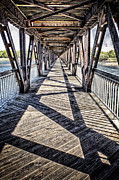 Tamyra Ayles Prints - Tulsa Pedestrian Bridge Print by Tamyra Ayles