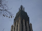 """boston Avenue"" Metal Prints - Tulsa Spire Detail Metal Print by Sue Klaus"