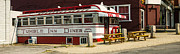 American Food Framed Prints - Tumble Inn Diner Claremont NH Framed Print by Edward Fielding
