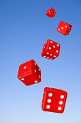 Gamble Posters - Tumbling Dice and Sky Poster by Colin and Linda McKie