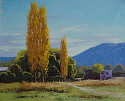 Fall Trees Posters - Tumut Farm Poster by Graham Gercken