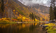 Tumwater Canyon Fall Serenity Print by Mike Reid