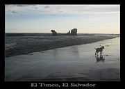 El Salvador Framed Prints - Tunco Card Beach Stroll Framed Print by Stav Stavit Zagron
