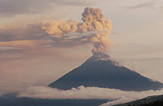 Andes Metal Prints - Tungurahua Volcano Erupting Metal Print by Pete Oxford