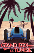 Monaco Art - Tunisia Grand Prix 1933 by Nomad Art And  Design