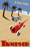 Monaco Art - Tunisia Grand Prix 1935 by Nomad Art And  Design