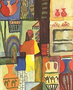 Macke; August (1887-1914) Acrylic Prints - Tunisian Market Acrylic Print by August Macke