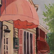 Streetscape Paintings - Tunkhannock Streetscape by Michelle Thomas