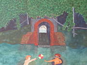 Swimming Hole Paintings - Tunnel Hollow Swiming Hole by Thomas Grier
