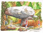 National Painting Posters - Tunnel Rock in the Sequoia National Park - CA Poster by Carlos G Groppa