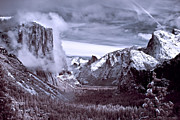Cloudy Photo Prints - Tunnel View in Yosemite Print by Alexis Birkill