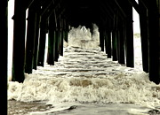 Pilings Prints - Tunnel Vision Print by Karen Wiles