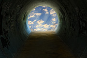 Hope At The End Of The Tunnel Framed Prints - Tunnel with Light Framed Print by Melinda Fawver