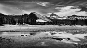 Cloudy Photo Prints - Tuolumne Meadows and Lembert Dome Print by Cat Connor