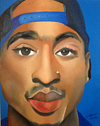 Rapper Paintings - Tupac by Chelsea VanHook