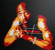 Rap Music Painting Originals - Tupac Pray For A Brighter Day by Leon Keay