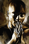 Tupac Shakur Artwork  Print by Sheraz A