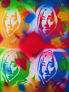 Hip Hop Painting Originals - Tupac V Warhol by Leon Keay