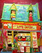 Michael Litvack Art - Tupper Grocery 1960s by Michael Litvack