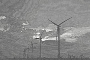 Generators Prints - Turbines in Pencil Print by Jim McCain