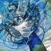 Abstracted Mixed Media Prints - Turbulence Print by Reno Graf von Buckenberg