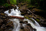 North Cascades Prints - Turbulent Flow Print by Mike Reid