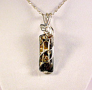 Sterling Silver Art - Turitella Natural Stone Pendant in Sterling by Holly Chapman