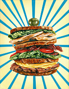 Kitschy Originals - Turkey Club on Rye by Kelly Gilleran