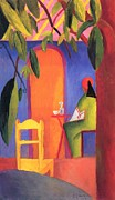 Turkish Paintings - Turkish Cafe II by August Macke