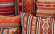 Cushion Metal Prints - Turkish Cushions 01 Metal Print by Rick Piper Photography
