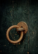Rusty Door Framed Prints - Turn And Enter Framed Print by Odd Jeppesen